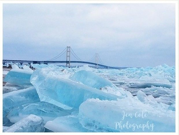 Blue ice doesn't happen every year. But when it does appear, it sends photographers running to catch the perfect shot.