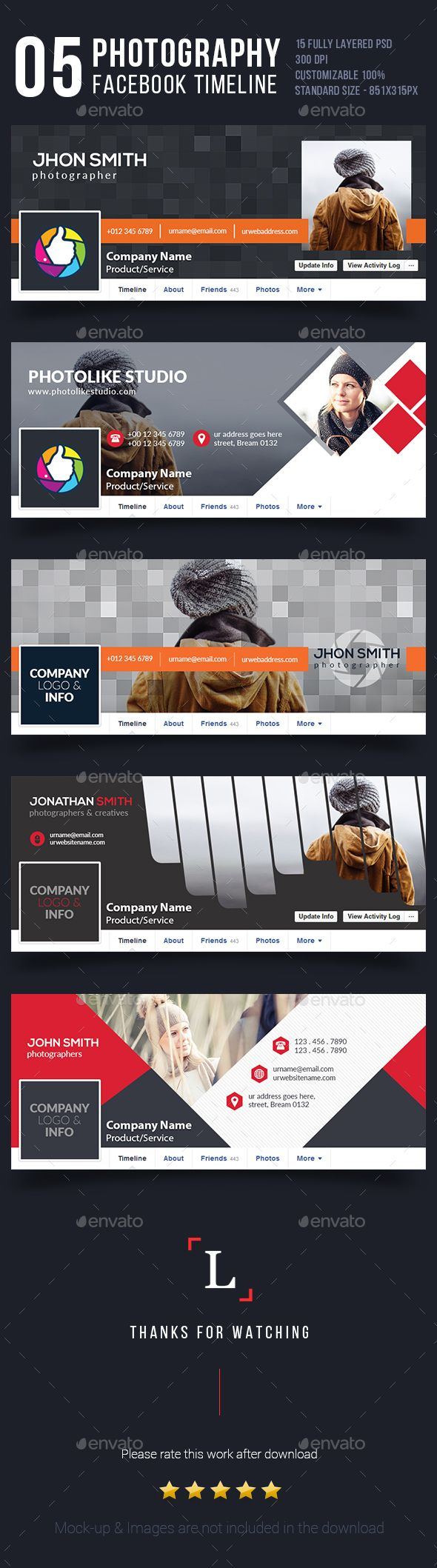 Photography Facebook Covers Bundle 145 best Cover