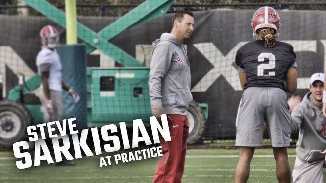 Watch Sarkisian work with Jalen Hurts and Alabama's offense