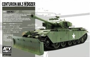 Centurion Mk.5 with Dozer. AFV Club, 1/35, rebox 2009 (ex AFV Club 2008 No.AF35124, updated/new parts), No.AF35106. Price: 32,00 EUR (marketplace).