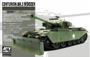 Centurion Mk.5 with Dozer. AFV Club, 1/35, rebox 2009 (ex AFV Club 2008 No.AF35124, updated/new parts), No.AF35106. Price: 32,00 EUR (marketplace).