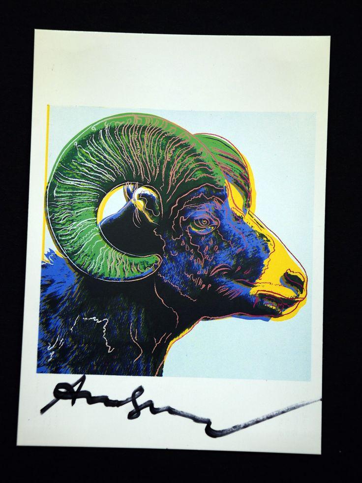 Andy Warhol Ram Signed Bookplate