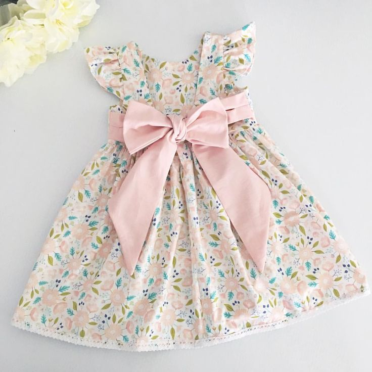 Girls dress, handmade dress, dresses, floral dress, bows