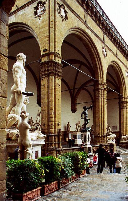 | ♕ | Loggia dei Lenzi - PiazzaSignoria, Florence | by © Cåsbr