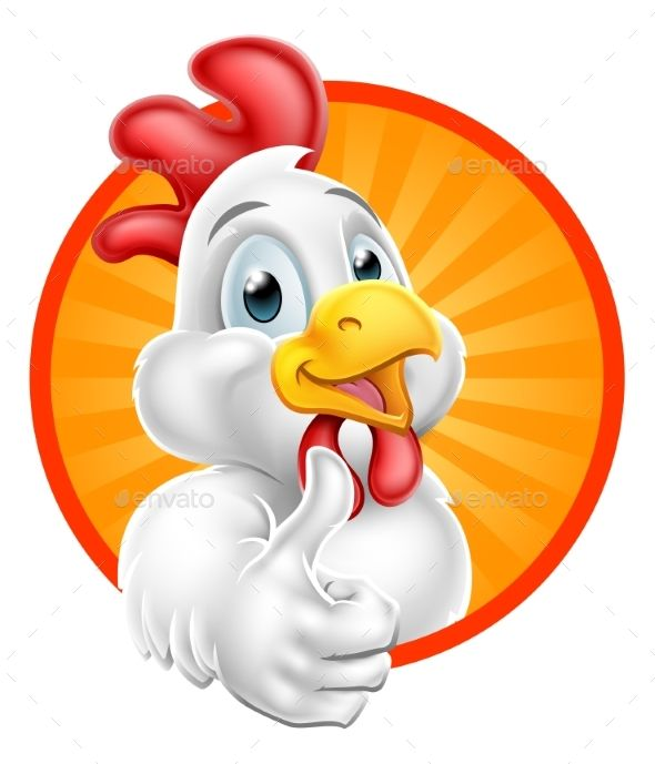 Chicken Cartoon Character Giving Thumbs Up Cartoon Chicken Chicken Logo Art Drawings For Kids