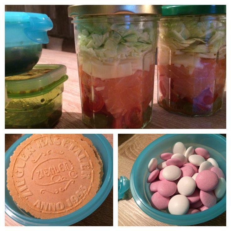 Lunchbox – schneller Salat (2 Personen) – gemischter Salat (Trauben, Kirschen ….. – Salat