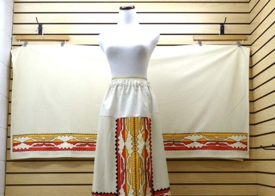 NICE EXTRA LARGE RIBBONWORK DESIGN NATIVE AMERICAN INDIAN SKIRT AND SHAWL SET – eBay Find of the Week  Read more: http://www.powwows.com/category/blog/page/3/