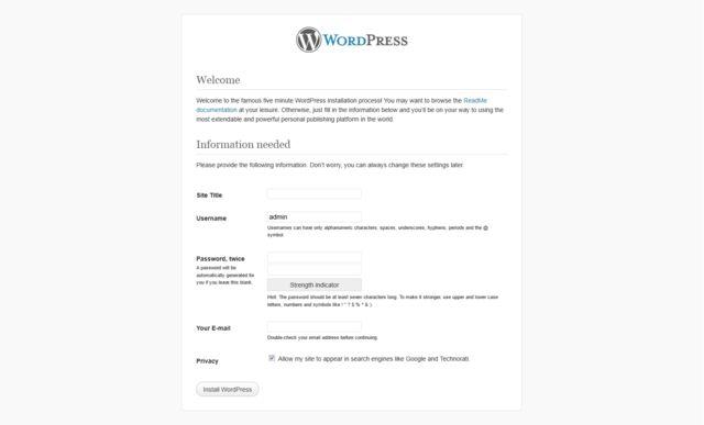 it:Installare WordPress « WordPress Codex