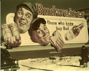 Great Vintage Budweiser Billboard