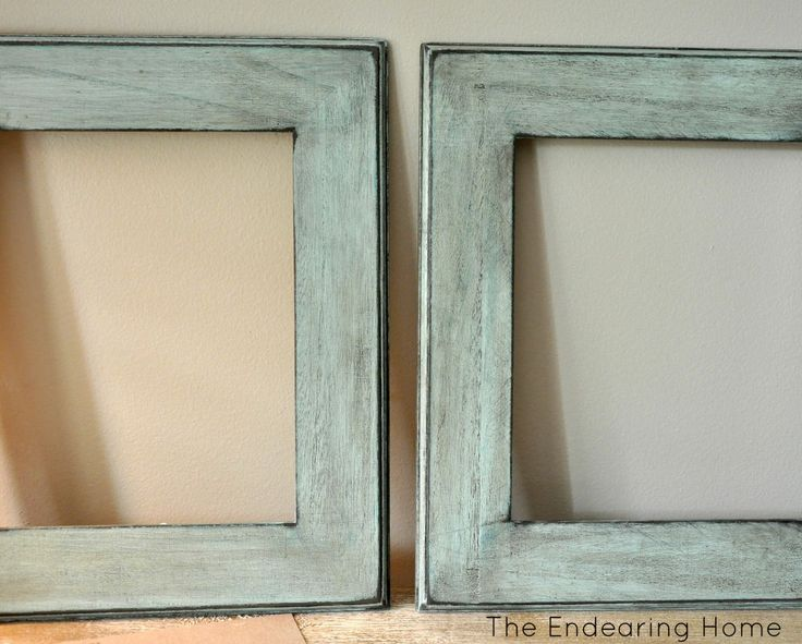 how to antique wooden craft frames from the endearing home - Wooden Picture Frames To Paint