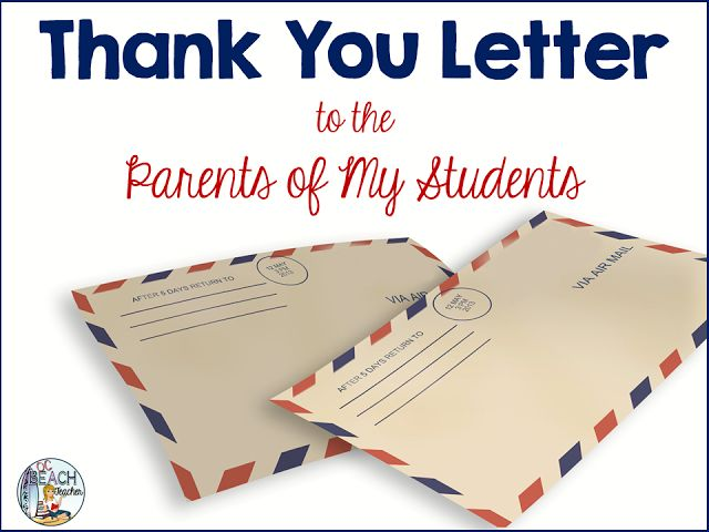 A Thank You Letter To Parents Of My Students  Ocbeachteacher