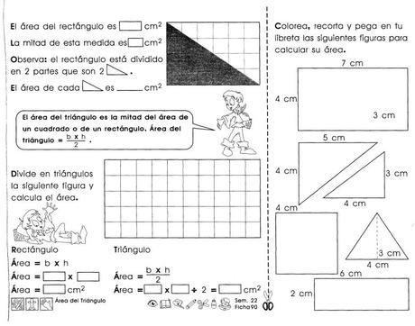 Área del triángulo: 3er grado