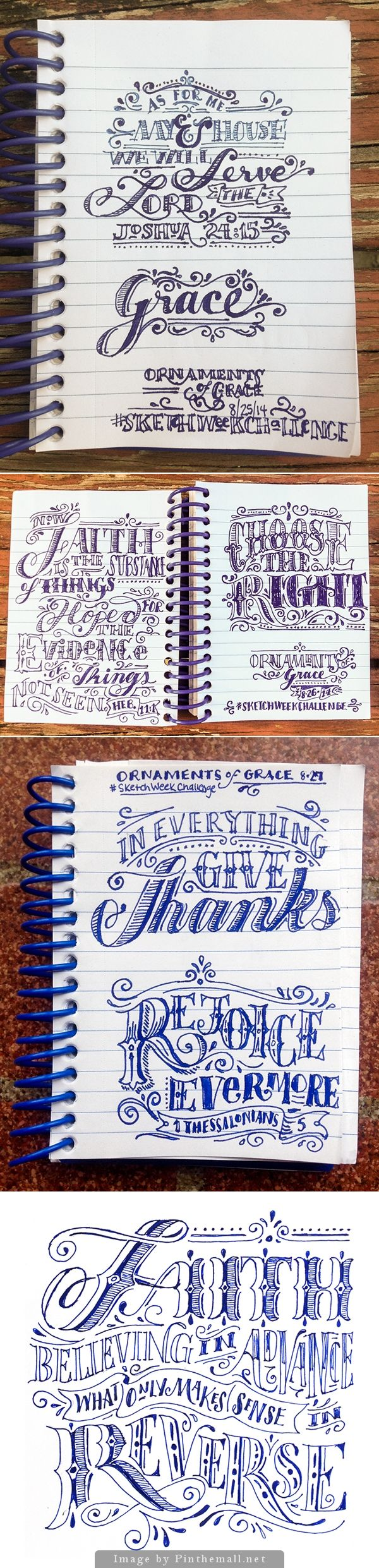 Lettering sketches by Beth Rufener @meganpin7