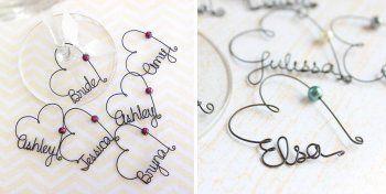 Originelle Namensschilder