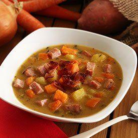 Paleo Ham & Sweet Potato Soup