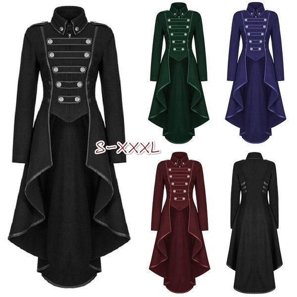 coat victorian jacket ruffles steampunk hooded uk retro corset back 6 28 gothic