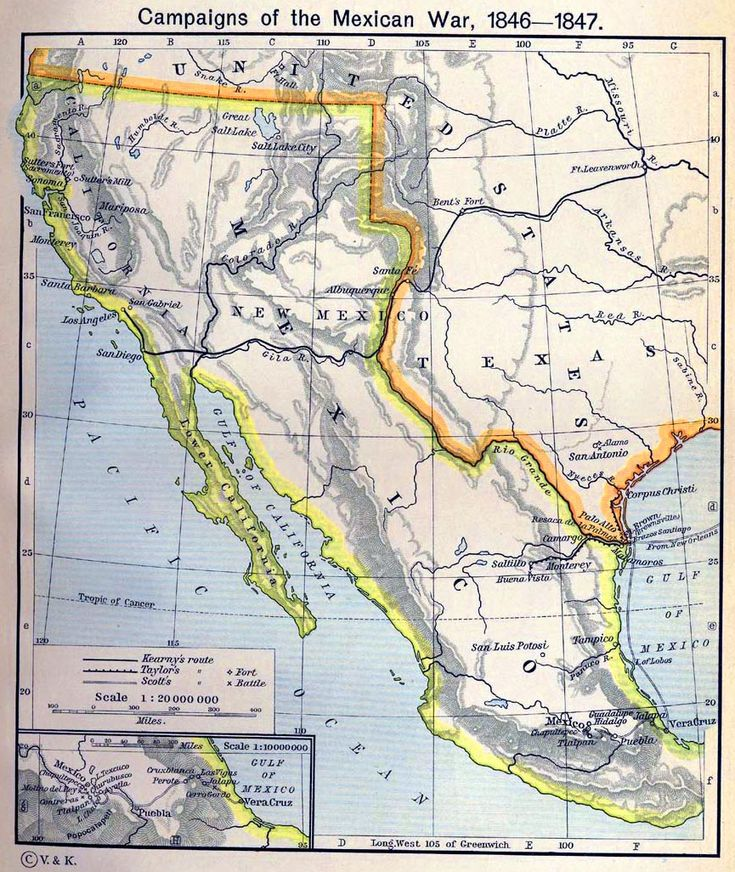 Best MexicanAmerican War Images On - Veracruz on us map