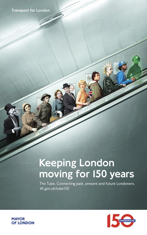 150 Years of the Tube  Tfl has released a new campaign to celebrate 150 years of the Tube.