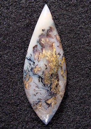 Graveyard plume agate