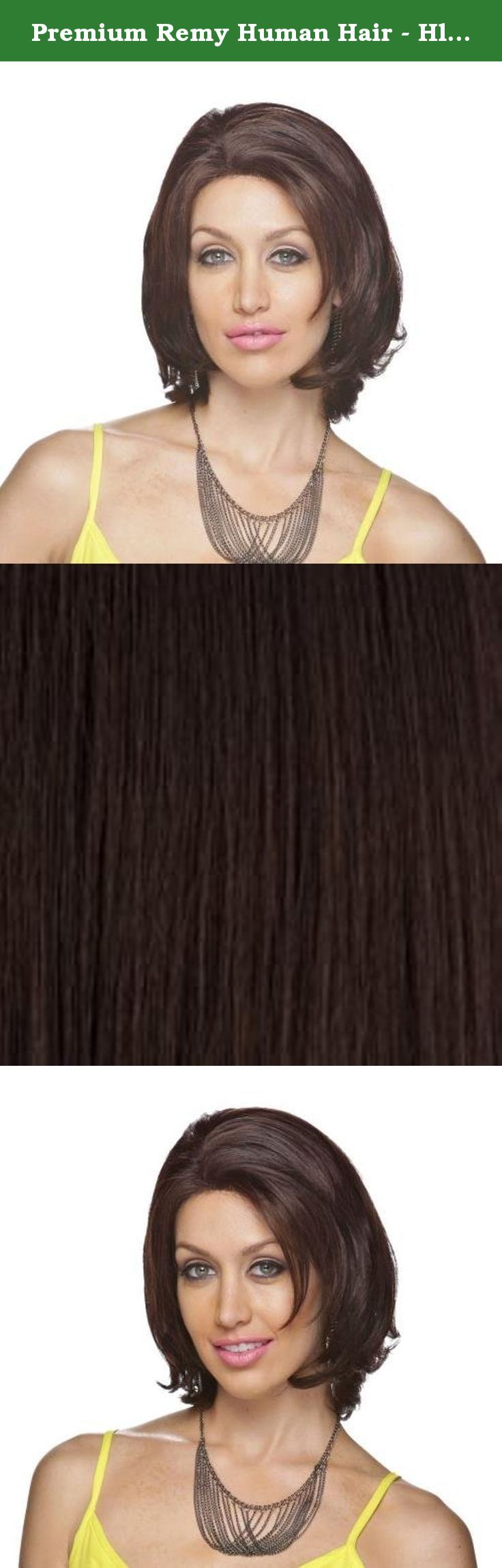 Premium Remy Human Hair - Hl Renee, Light Brown(4). MEDIUM LENGTH WITH LOOSE CURL *Material: Human *Type: Full Wig *Style: Wavy *Product Name: Human Full Wig - H-Orchid.