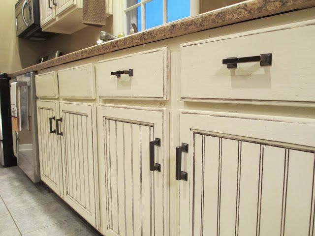 They Redid These Cabinets And Distressed Them They Are