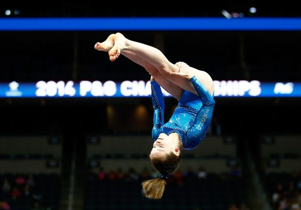 Norah Flatley in P&G Gymnastics Championships