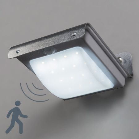 Wandlamp Solaris aluminium met sensor