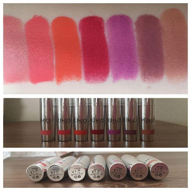 Die Unlimited Stylo Lippies Von Kiko Hier In Den Farben 01 04 05 07 11 Bemalte Lippe Mac Lipstick Instagram Posts Voss Bottle