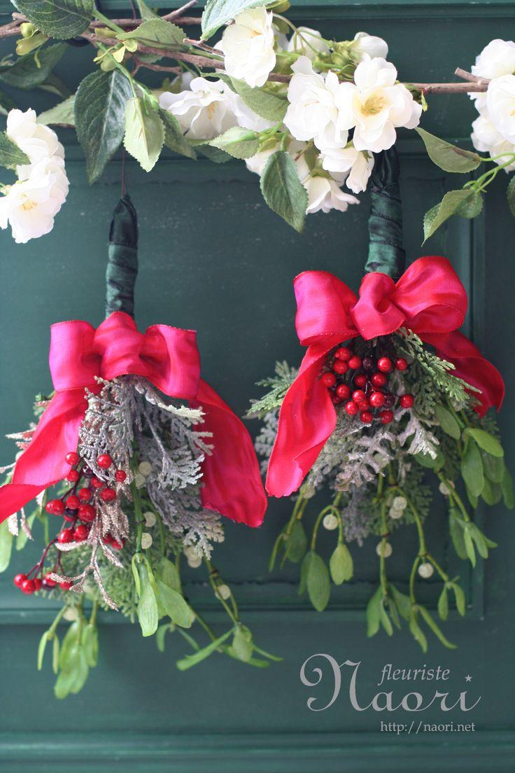 Christmas wreath 2013 クリスマスリース kissing mistletoe ヤドリギ