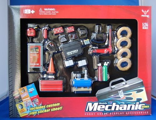 Nabor Die Cast Cars Accessories Garage Mechanic Tool Set 1 24