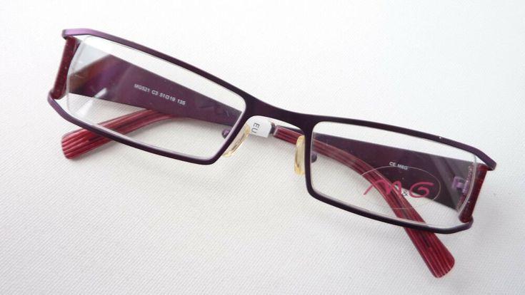 Metall Gestell Teilrandlos Extravagant Lila Damen Brille Breite Bugel Size M Glasses 2019 Glasses Sunglasses Fashion