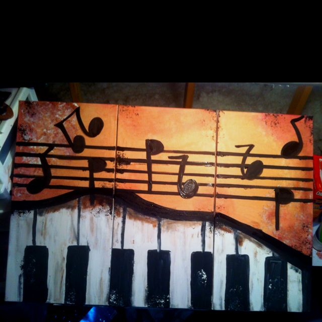Music + paint = perfection.