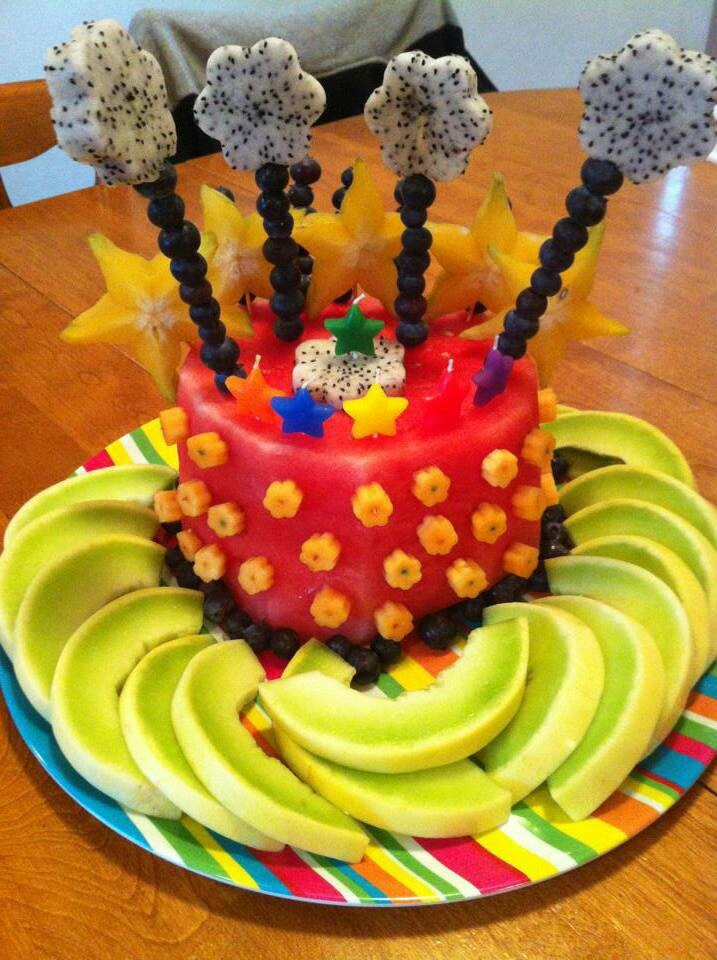 Birthday Cake Made Out Of Vegetables