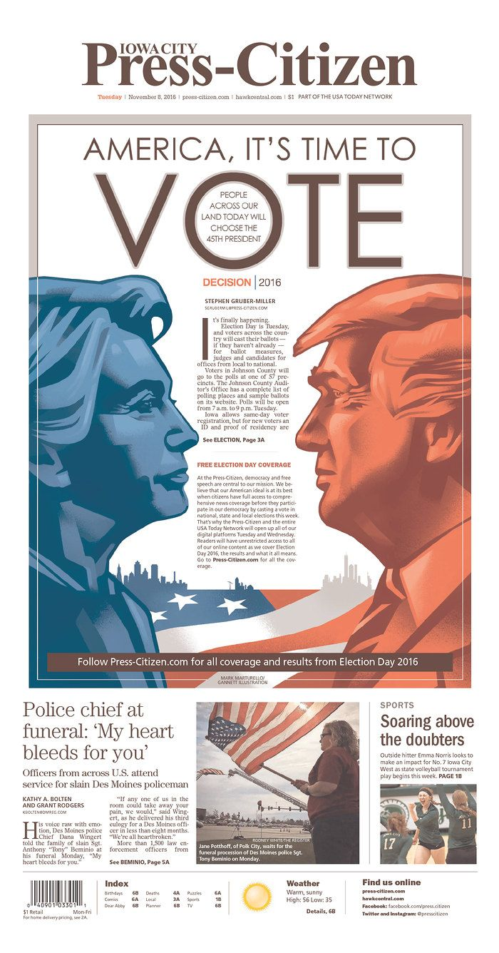 IOWA CITY PRESS-CITIZEN 11/8/16 via Newseum