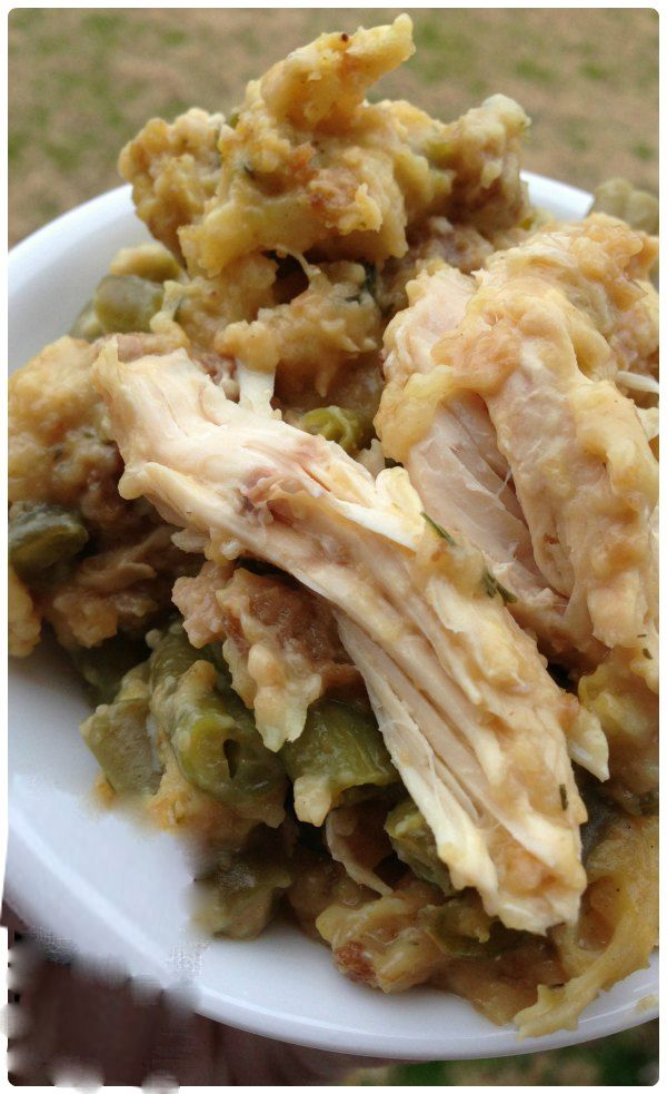 Did I ever say that I love chicken? I'm sure I have. When it comes to chicken, I'm always creative! Last Sunday, I made this crock pot chicken and stuffing, it made me proud!    You'll Need:    4