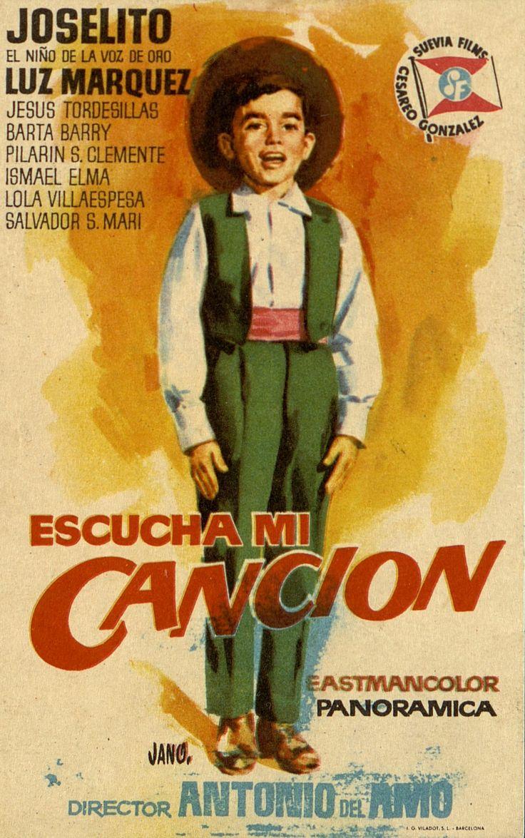 353.     JANO. Escucha mi canción. Dirigida por Antonio del Amo. Barcelona: I. G. Viladot, [1959].  #ProgramasdeMano #BbtkULL #CineEspañol #DiadelLibro2014