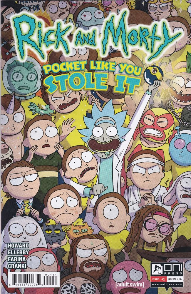 Rick And Morty Pocket Like You Stole It #1 FRIED PIE VARIATION COVER Oni Press
