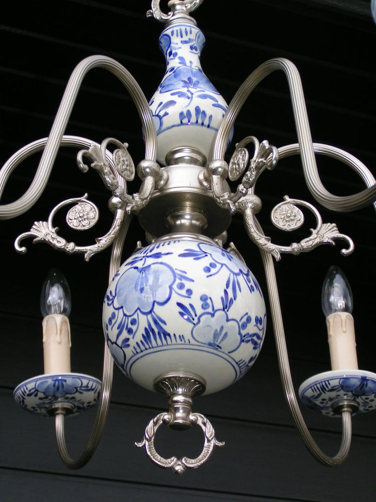 8 best delft light fixtures images on pinterest chandelier vintage 6 light silver coloured delft chandelier look at it mozeypictures