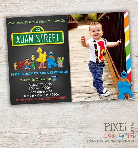 SESAME STREET Invitation, Sesame Street Birthday, Sesame Street Birthday Invitation, Sesame Street, Big Bird, Cookie Monster, Earnie, Elmo on Etsy, $9.99