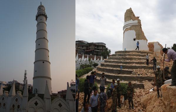 Nepal, la torre Dharahara patrimonio Unesco e