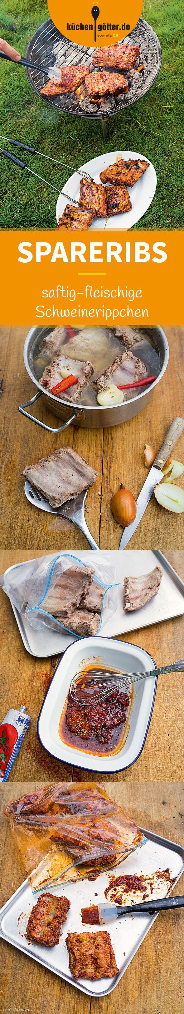 SPARERIBS - Unsere Rippchen werden bei diesem Rezept vorgekocht und für eine Nacht in würzige Marinade eingelegt. Nicht typisch Texas, aber das knusprig-saftige Ergebnis spricht für sich!