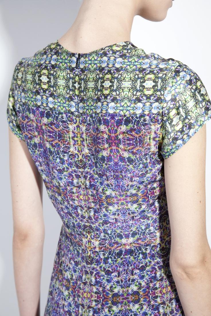 Bruno Pieters Printed silk tailored pencil dress