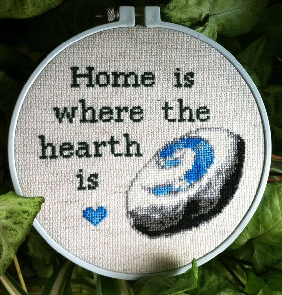 Home is Where the Hearth is Framed Cross Stitch (World of Warcraft, Horde and Alliance)