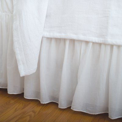 Voile White Bed Skirt by Elisabeth York - 82114W.6080