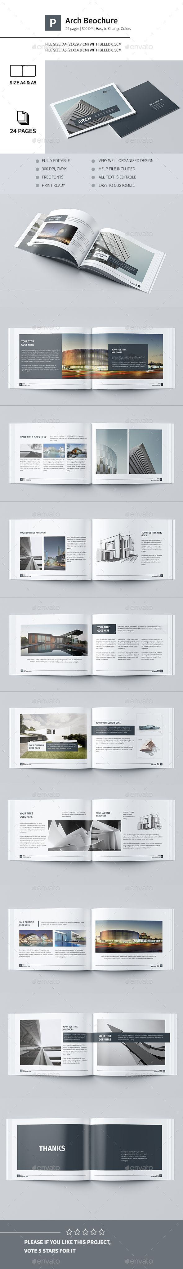 a5 brochure template - modern architecture brochure 24 pages a4 a5 logos