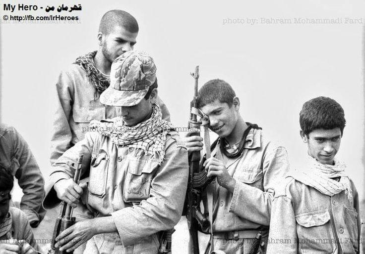 Iranian militant at IRAN-Iraq war