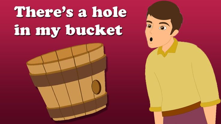 There's A Hole In My Bucket Dear Liza | Children's Rhymes With Lyrics | ...