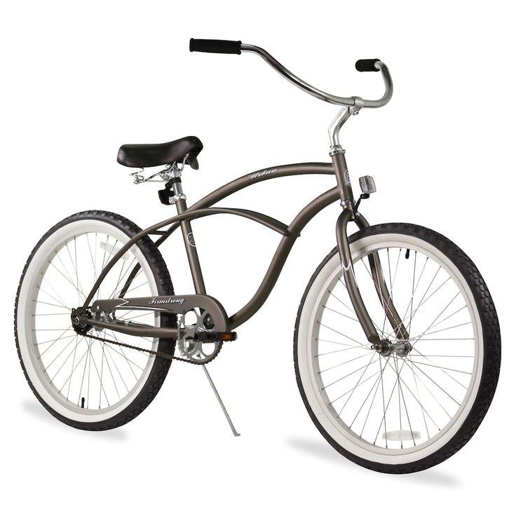 Firmstrong Men's 24-in. Urban Single-Speed Beach Cruiser Bike, Grey