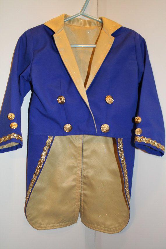 Beast Costume BLUE Tuxedo Jacket Prince by CupcakesCottage