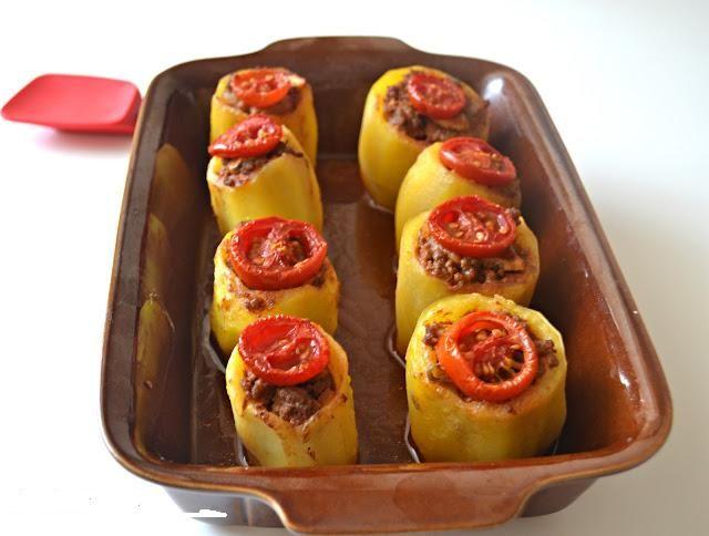 Fırında Patates Dolması
